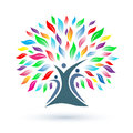 Family tree logo Royalty Free Stock Photo