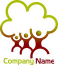 Family tree logo illustration art of a with isolated background Stock Images