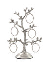 Family tree silver photo frame Royalty Free Stock Photo