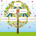 Family tree vector Stock Photo
