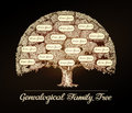 Family tree in vintage style. Genealogy, pedigree, dynasty Royalty Free Stock Photo