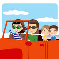 Family Trip Car Royalty Free Stock Image