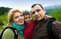 Family trip snapshot Royalty Free Stock Photography