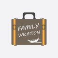 Family vacation concept flat vector illustration.