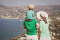 Family on vacation in Crete, Greece Royalty Free Stock Photo