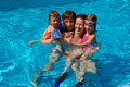Family vacation. Fun in swimming pool Royalty Free Stock Photos