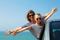 Family on vacation. Summer holiday and car travel concept Royalty Free Stock Photo