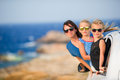 Family on vacation travel by car. Summer holiday and car travel concept Royalty Free Stock Photo