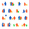 Family values simple minimal people silhouette con Royalty Free Stock Photo