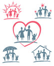 Family. Vector icon set.