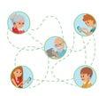 Family Vector Illustration Fla...