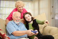 Family Video Game Stock Images