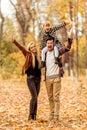 Family walk autumn Royalty Free Stock Photo