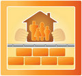 Family in the warm house Royalty Free Stock Photography
