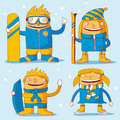 Family winter sports Stock Photography