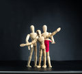 Family of wooden figures Royalty Free Stock Photo