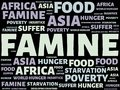 FAMINE - image with words associated with the topic FAMINE, word cloud, cube, letter, image, illustration