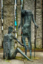 The Famine Memorial in St. Stephen`s Green, Dublin, Ireland Royalty Free Stock Photo