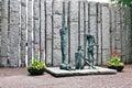 Famine sculpture dublin ireland by edward delaney st stephen green Stock Images