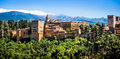 famous Alhambra in Granada Royalty Free Stock Photo