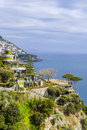 Famous amalfi coast view from positano italy Stock Images