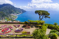Famous amalfi coast view from ravello rufolo villa italy Royalty Free Stock Photos