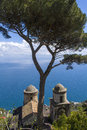 Famous amalfi coast view from ravello rufolo villa italy Royalty Free Stock Images