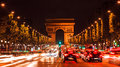 Famous Arc de Triumph Royalty Free Stock Photos