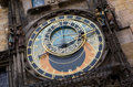 Famous astronomical clock in Prague Royalty Free Stock Images