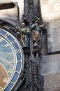 The famous astronomical clock in prague Royalty Free Stock Image