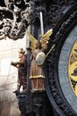 The famous astronomical clock in prague Stock Image