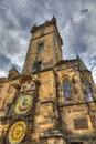 The famous astronomical clock prague orloj in old town of Stock Photography