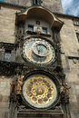 Famous Astronomical clock in Prague (Prague Orloj) Royalty Free Stock Photography