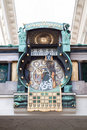 Famous astronomical clock in Vienna Royalty Free Stock Image