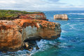 Famous australian rocks one of the in the bay of islands coastal park great ocean road australia Stock Image