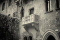 The famous balcony of romeo and juliet in verona italy Stock Photos