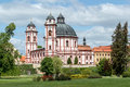 Famous baroque chateau jaromerice nad rokytnou czech republic Stock Photos