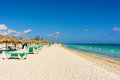 The famous beach of varadero in cuba on a sunny summer day Stock Photo