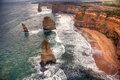 Famous beautiful apostles in australia from above Royalty Free Stock Photos