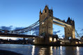 Famous and beautiful evening view of tower bridge london uk Royalty Free Stock Photography