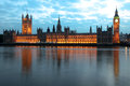 Famous beautiful view to big ben and houses of parliament l london uk Royalty Free Stock Photos