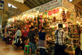The Famous Ben Thanh Market in Ho Chi Minh City Royalty Free Stock Image