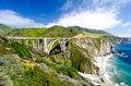 The Famous Bixby Bridge on California State Route 1 Royalty Free Stock Photo
