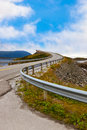 Famous bridge on the atlantic road in norway through fjord travel background Stock Photo