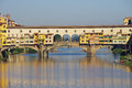 Famous bridge in florence city italy Stock Images
