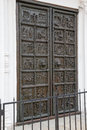 Famous bronze west entrance gates of St.Sophia Cathedral Royalty Free Stock Photo