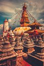 Bodhnath stupa in Kathmandu valley, Nepal Royalty Free Stock Photo