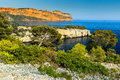 Famous Calanques of Port Pin in Cassis near Marseille,France Royalty Free Stock Photo