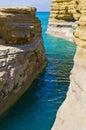 Famous canal d amour in sidari corfu greece island Royalty Free Stock Photos