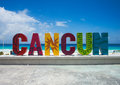 The famous Cancun sign